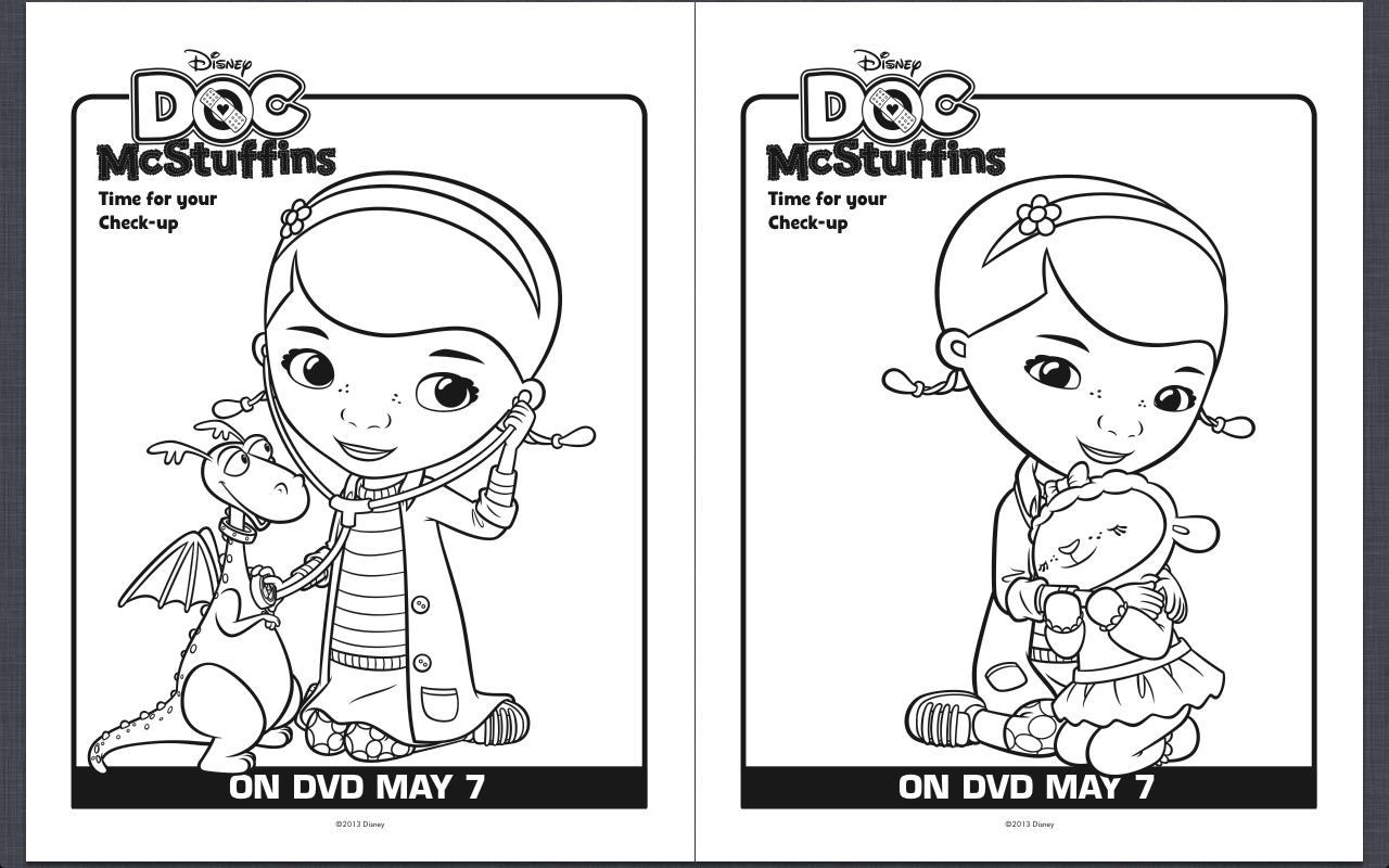 free doc mcstuffins coloring pages - Doc Mcstuffins Coloring Pages
